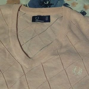 Fred perry pink sweater